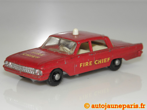 Matchbox Fairlane fire chief