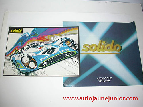 Solido Lot de 2 catalogues : 24 et 1978/1979