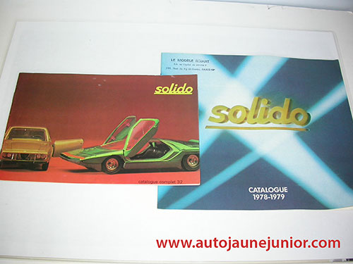 Solido Catalogues complet 32 et 1978/1979