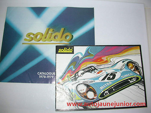 Solido Lot de 2 catalogues : Matra 1973 et 1978/1979