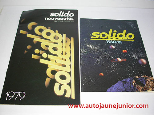 Solido Lot de 2 catalogues : 1980/1981 et 1979