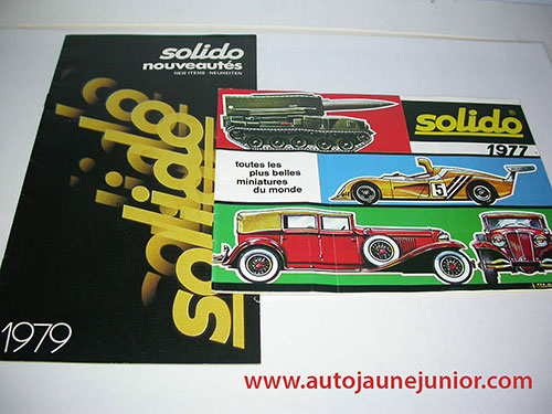 Solido Lot de 2 catalogues : 1977 et 1979