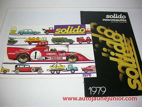 Solido Lot de 2 catalogues : 1976 et 1979