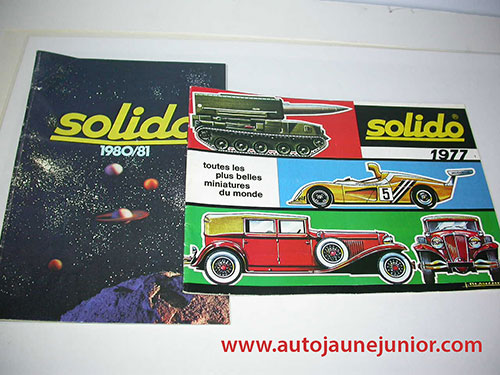 Solido Lot de 2 catalogues : 1977 et 1980/1981