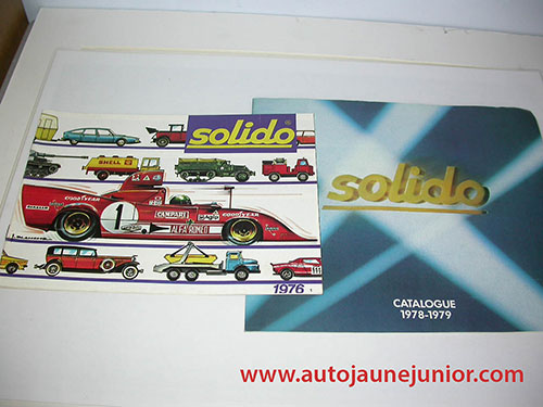 Solido Lot de 2 catalogues : 1976 et 1978/1979