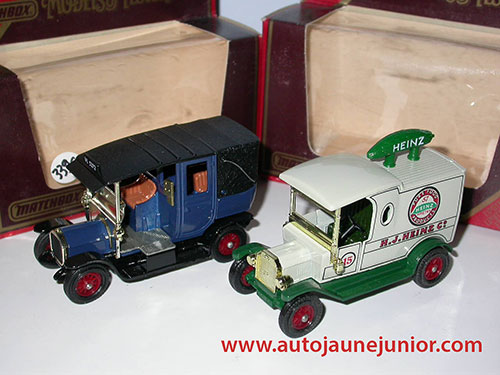 lot Ford T 1912 et Unic Taxi 1907