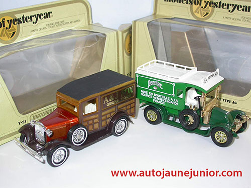 Matchbox Ford A AJ Box et Renault AG Perrier