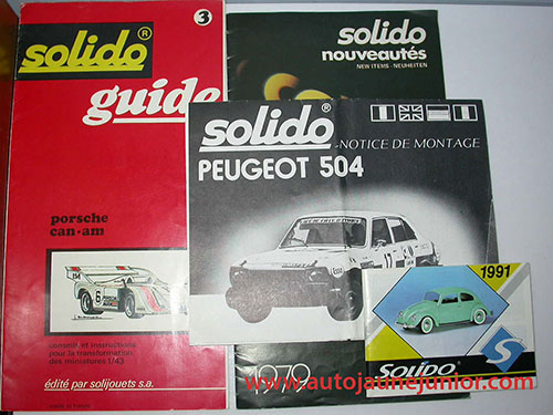 Solido 1991; Guide Porsche Can-Am; 1979; notice peugeot 504