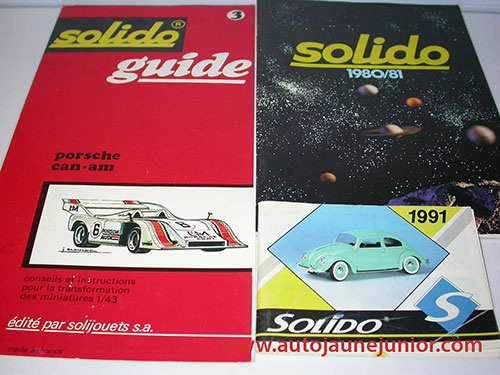 Solido 1991; guide porsche can-am; 1980/1981