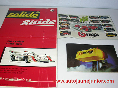Divers Corgi 1981; Buragon 1976:3 et Guide Porsche Can-Am