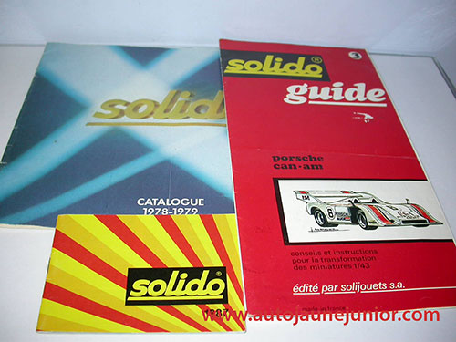 Solido 1978-1979; 1987 et guide porsche can-am