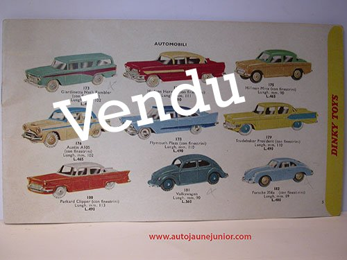 Dinky Toys GB marché italien